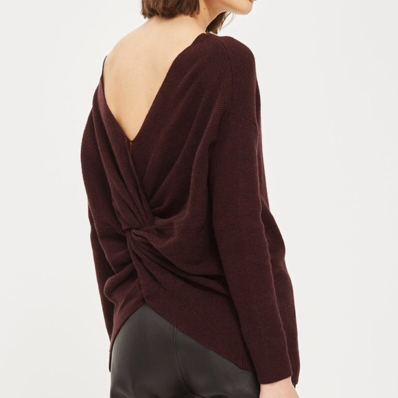 fd0b5d8e4dc92 Topshop off the shoulder Sweater with twisted back.  M 5a6226158290af59e901a8f7